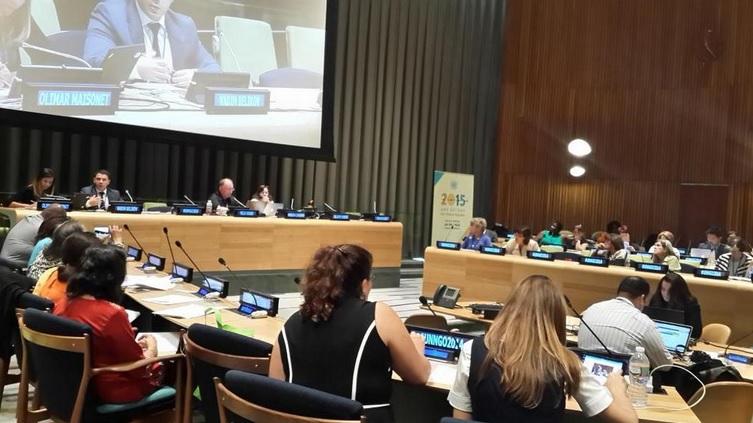 at the UN