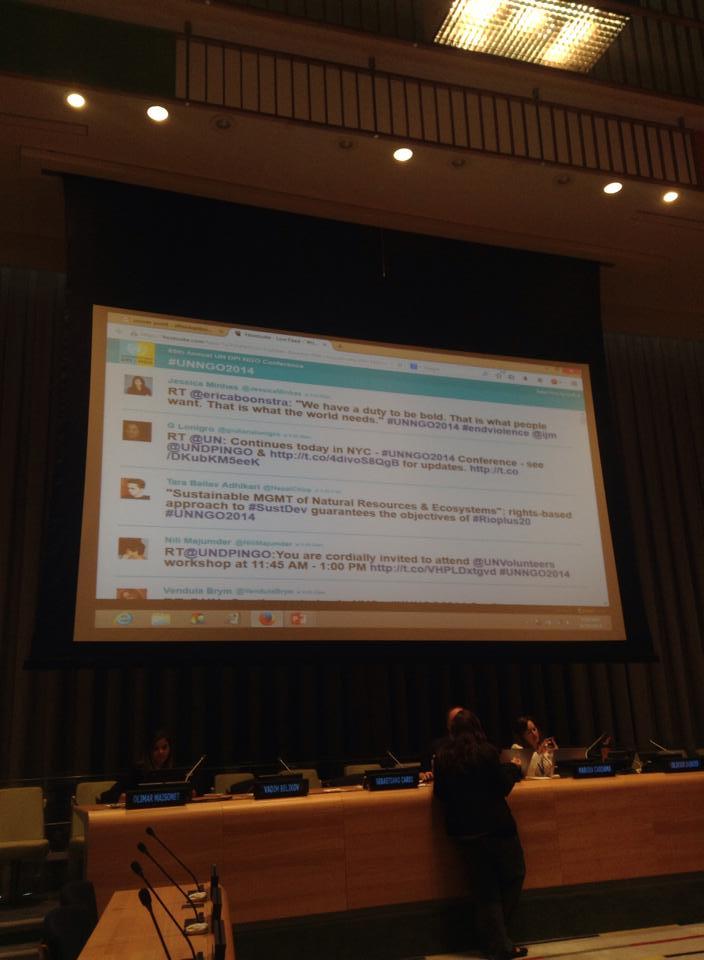 tweet on the big screen